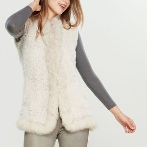 Love Token Vera Smoke Rabbit / Fox Fur Vest